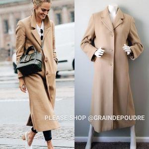 Vtg Marvin Richards Camel Wool Cashmere Maxi Coat
